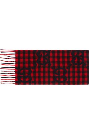Gucci Fringed checked scarf