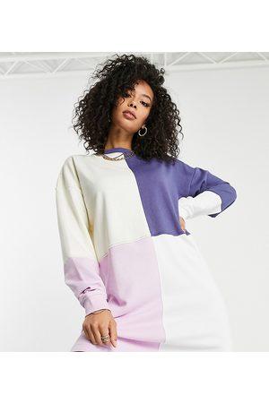 Missguided Oversized sweaterkjole med farveblokke