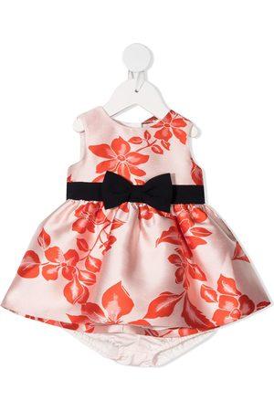 HUCKLEBONES LONDON ærmeløs blomstret kjole i jacquard