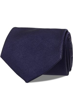 AN IVY Navy Signature Flag Silk Tie Slips