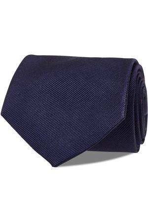 AN IVY Navy Signature Flag Silk Tie Slips