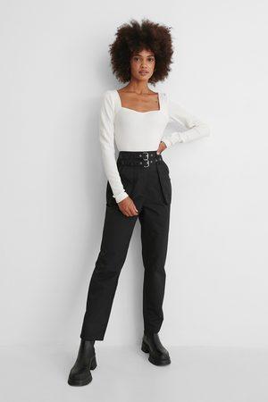 NA-KD Kvinder Cargo bukser - Løse Bukser Med Bælte