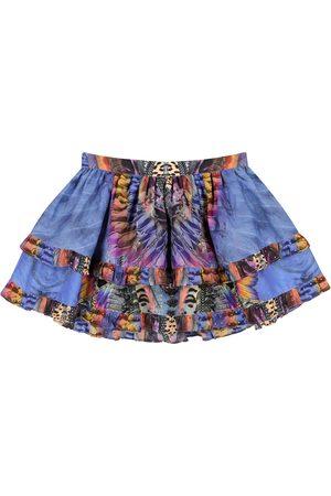 Camilla Kvinder Mønstrede nederdele - Embellished printed cotton-blend skirt
