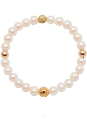 Nialaya Kvinder Armbånd - Women's Wristband with Pearl and Gold