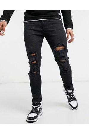 Bershka Super skinny-jeans med flænger i
