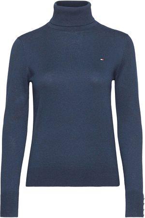 Tommy Hilfiger Kvinder Strik - Soft Cotton Roll-Nk Sweater Ls Turtleneck Rullekravetrøje
