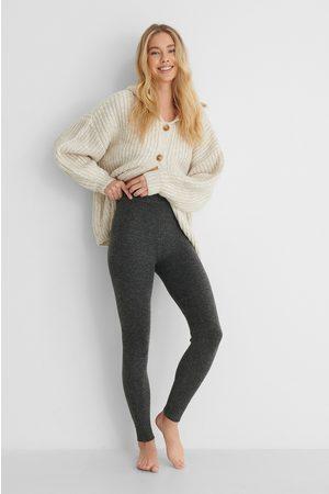 MANGO Kvinder Bukser - Loungewear Strikbukser