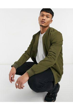 New Look Bomber-trøje i bomuld i khakifarve