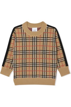 Burberry Sweater i uld med ikonisk stribe