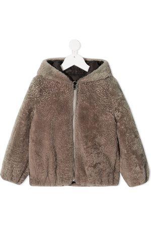 Brunello Cucinelli Piger Frakker - Frakke med hætte og lynlås