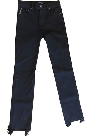 Balenciaga Mænd Straight - Nødstedte Hem Straight Jeans
