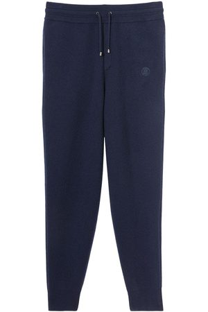 Burberry Embroidered Monogram cashmere sweatpants