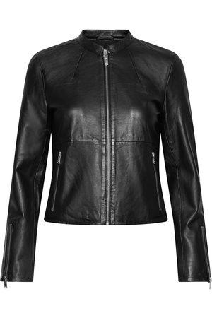 Selected Slfibi Leather Jacket B Noos Læderjakke Skindjakke