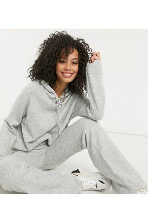 ASOS Kvinder Strik - ASOS DESIGN Tall - Oversized hættetrøje i gråmeleret strik - Del af sæt-Beige