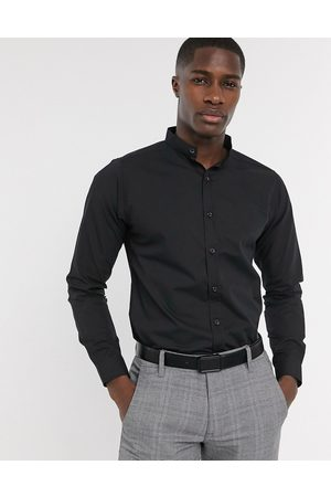 Bolongaro Mænd Langærmede - Slim fit grandad-skjorte