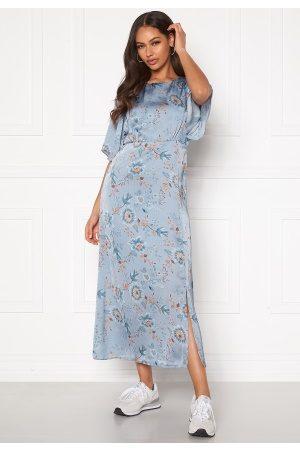 Happy Holly Kvinder Mønstrede kjoler - Mila dress Light blue / Patterned 48