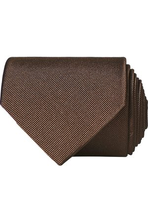 Amanda Christensen Plain Classic Tie 8 cm Brown
