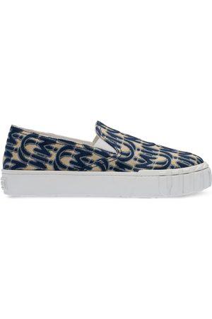 Miu Miu Slip-on sneakers i jacquard med logotryk