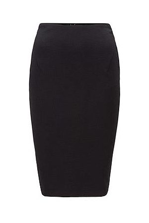 HUGO BOSS Kvinder Pencil nederdele - Houndstooth-jersey pencil skirt with exposed-zip detail