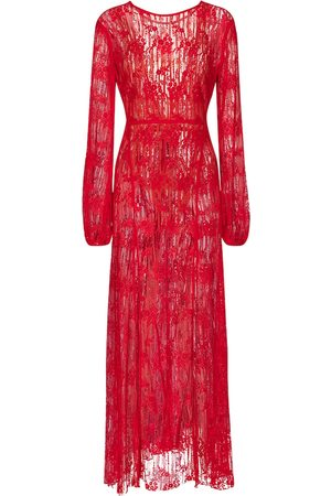 ROTATE Kvinder Maxikjoler - Lisa cotton-blend lace maxi dress