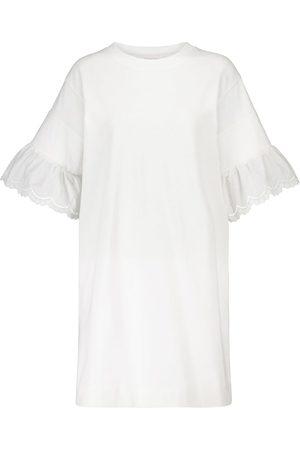 Chloé Embroidered cotton poplin minidress
