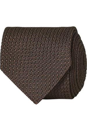 Amanda Christensen Mænd Slips - Silk Grenadine 8 cm Tie Brown