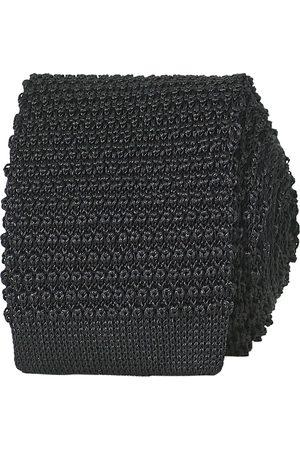 Amanda Christensen Mænd Slips - Knitted Silk Tie 6 cm Black