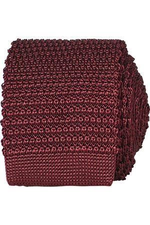Amanda Christensen Mænd Slips - Knitted Silk Tie 6 cm Wine Red