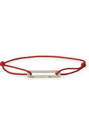 Le Gramme Mænd Armbånd - Cord Bracelet Le 17/10 Red/Sterling Silver