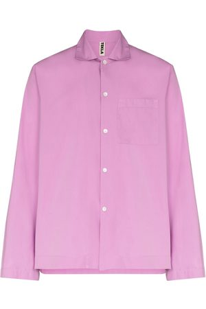 Tekla Unisex poplin pyjama shirt