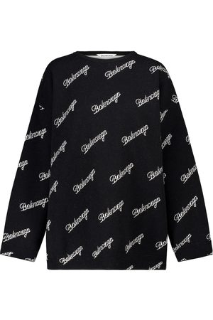 Balenciaga Logo stretch-wool intarsia sweater