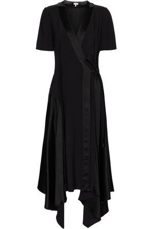 Loewe Satin-back crêpe midi dress