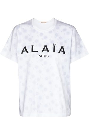 Alaïa Logo cotton jersey T-shirt