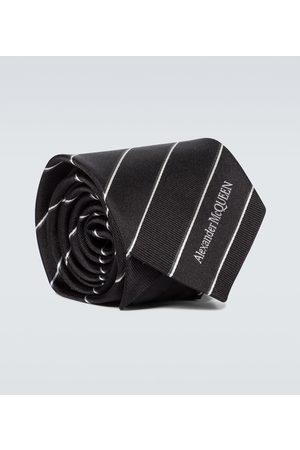 Alexander McQueen Striped jacquard silk tie