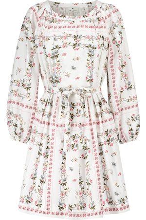 Etro Floral cotton minidress