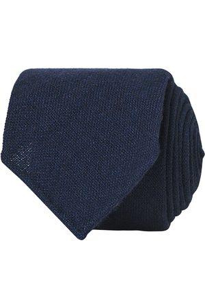 Drake's Mænd Slips - Cashmere 8 cm Tie Navy