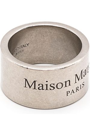 Maison Margiela Logo-engraved band ring