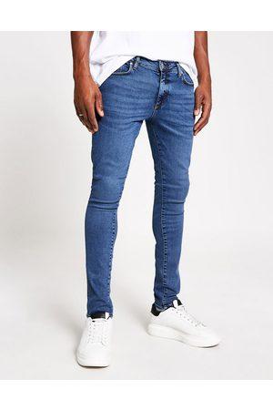 River Island Super Skinny-jeans i mørkeblå