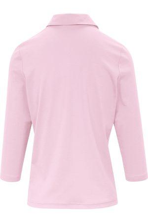 Efixelle Poloshirt 3/4-ærmer i 100% bomuld Fra rosé