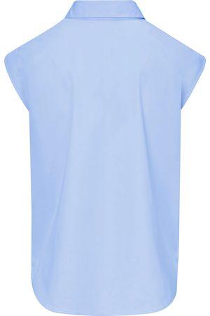 DAY.LIKE Ærmeløs skjortebluse skjortekrave Fra blå