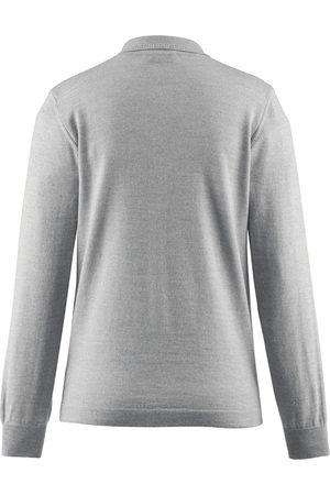 Peter Hahn Polobluse 100% ren ny uld Fra grå
