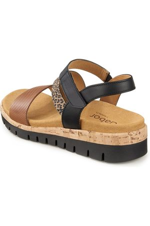 Gabor Kvinder Sandaler med kilehæl - Sandaler kilehæl og leopardplettet print Fra Comfort sort