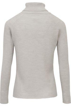 Peter Hahn Rullekravebluse i 100% ren ny uld Fra grå