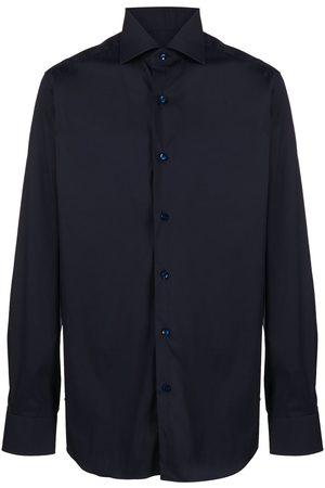BARBA Ensfarvet skjorte med knapper