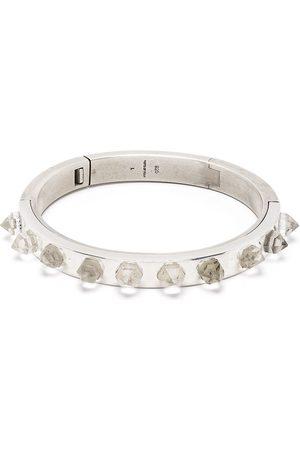 PARTS OF FOUR Quartz-studded bracelet