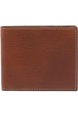 Brunello Cucinelli Mænd Punge - Brown leather wallet