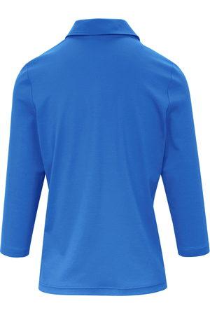 Efixelle Poloshirt 3/4-ærmer i 100% bomuld Fra blå