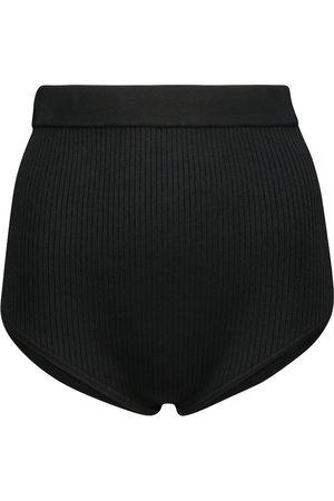 SIR Kvinder Briefs - Agnes ribbed-knit briefs