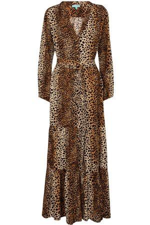 Melissa Odabash Kvinder Mønstrede kjoler - Sonja cheetah-print maxi dress