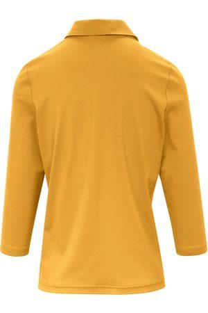 Efixelle Poloshirt 3/4-ærmer i 100% bomuld Fra gul